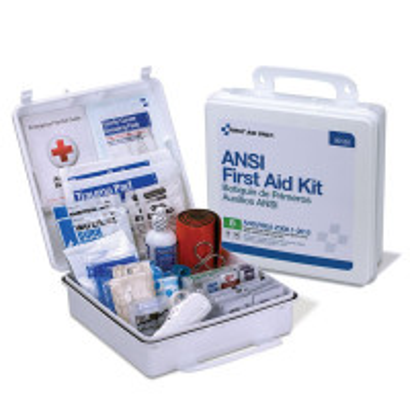 50 Person First Aid Kit, ANSI B, Plastic Case, Weatherproof