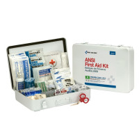 50 Person First Aid Kit, ANSI B,  Metal Case, Weatherproof