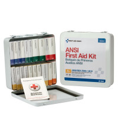 24 Unit First Aid Kit, ANSI A+,  Metal Case