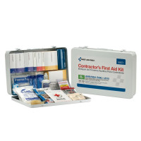 50 Person Contractor ANSI B+ First Aid Kit, Metal Case