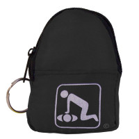 CPR Black Beltloop Keychain Backpack with Faceshield, Gloves, and Cleansing Wipes