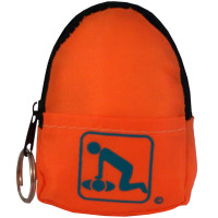 CPR Orange Beltloop Keychain Backpack with Faceshield, Gloves, and Cleansing Wipes