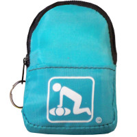 CPR Light Blue Beltloop Keychain Backpack with Faceshield, Gloves, and Cleansing Wipes
