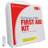 50 Person Basic First Aid Kit with Eye Wash - Plastic