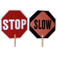 Hand Held Stop / Slow Sign - 2 Sided