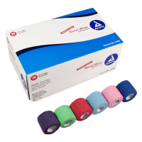 "Dynarex Sensi Wrap Self Adherent Wrap - Rainbow, 6 of Each Color, 2""x 5 yards., 36/cs"