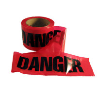 "Red ""Danger"" Caution Tape 3"" x 300'"