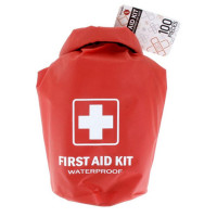 All Purpose First Aid Kit, Waterproof Dry Sack, Red, 100 Pieces