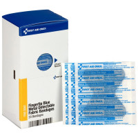 Fingertip Blue Metal Detectable Bandages, 20 Per Box