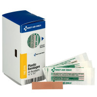 "3/8"" X 1.5"" Junior Plastic Bandages, 40 Per Box"