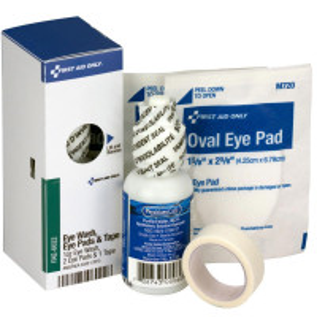 Eye Care Kit, 1 oz. Eyewash, 2 Oval Eye Pads and Tape Roll