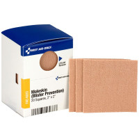 "2"" X 2"" Moleskin Blister Prevention, 20 Per Box"
