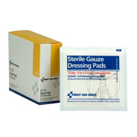 "Dressing Pad, Gauze 3"" x 3"" - 20 per box"