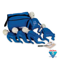 CPR Prompt Brand 5-Pack Infant Training Manikin - Blue