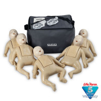 CPR Prompt Brand 5-Pack Infant Training Manikin - Tan