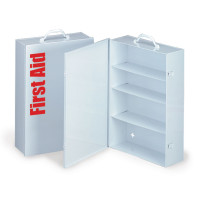 Empty Metal Industrial Cabinet Swing Out Door - 4 Shelf