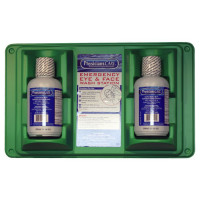 Double eye wash station, 16 oz. bottles