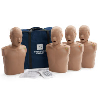 Prestan Child CPR-AED Training Manikin with Monitor 4-Pack - Dark Skin