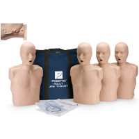Prestan Adult Jaw Thrust CPR-AED Training Manikin with CPR Monitor - 4 Pack - Medium Skin