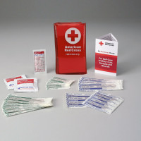 American Red Cross Mini First Aid Kit, Tri-Fold Vinyl Case
