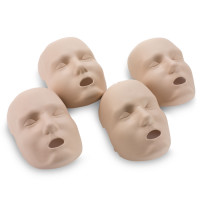 Medium Skin Replacement Faces for the Prestan Adult Manikin - 4 Pack