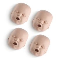 Medium Skin Replacement Faces for the Prestan Infant Manikin - 4 Pack