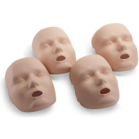 Face skin replacements for the PRESTAN Professional Adult Jaw Thrust Manikin, 4-Pack, Medium Skin