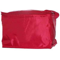 Red Vinyl Cooler Bag - blank