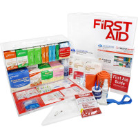 2 Shelf Industrial ANSI B+ First Aid Station with Door Pockets