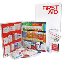 3 Shelf Industrial ANSI A+ First Aid Station with Door Pockets
