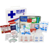 Bulk First Aid Kit, Plastic, 198 Pieces, ANSI B, 50 Person
