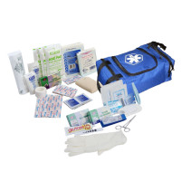 80 Piece First Responder Kit / Jump Bag - Blue