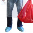 Protect your shoes and feet while cleaning up bodily fluids and bio-hazardous materials with disposable shoe covers.