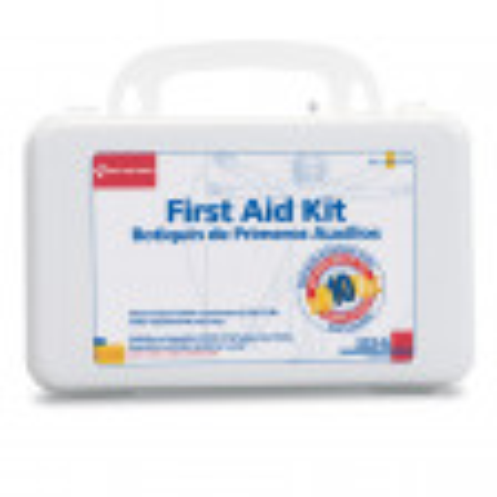 10 Person, 62 Piece Bulk kit, Plastic Case with Dividers - Botiquin de Primeros Auxilios 10 personas