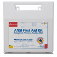 50 Person Bulk First Aid Kit, Plastic Case w/ Dividers