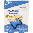 Fingertip High Visibility Blue Foam Bandages, Metal Detectable, 30 per box