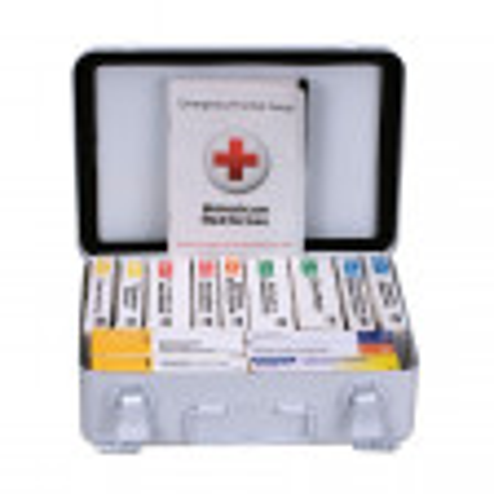 16 Unit First Aid Kit, ANSI A,  Metal Case