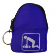 CPR Blue Beltloop Keychain Backpack with Faceshield, Gloves, and Cleansing Wipes