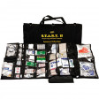 S.T.A.R.T II Trauma First Aid Kit Black Bag with opened Emergency Medical Unit Kit in front displaying contents of kit