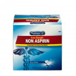 Extra-strength non-aspirin tablets fight against minor headaches and pains that come along with coughs and colds