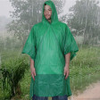 Deluxe Green Waterproof PVC Poncho With All Weather Hood