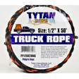 "Black & Orange Rope 1/2"" x 50'"