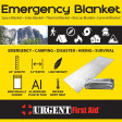 Emergency, camping, disaster, hiking, and survival blanket