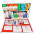 2 Shelf Industrial ANSI A+ First Aid Station with Door Pockets