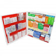3 Shelf Industrial ANSI B+ First Aid Station with Door Pockets