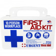 10 Person, 116 Piece Bulk Workplace First Aid Kit, Wall-Mountable and Portable Plastic Case with Gasket - Botiquin de Primeros Auxilios 10 personas