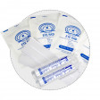 Kit includes eye wash and eye pads (with adhesive strips) for eye safety first aid