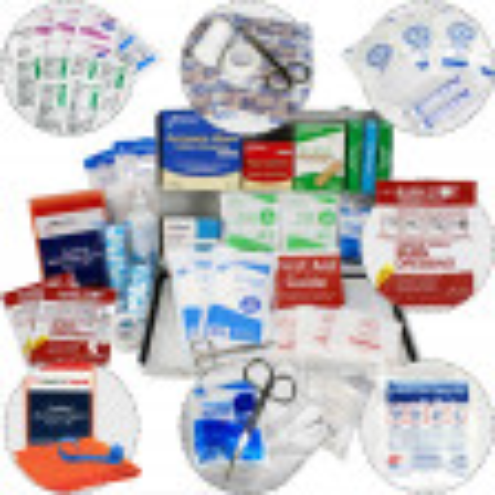 Bulk First Aid Kit, Metal, 198 Pieces, ANSI B, 50 Person