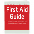 Complete First Aid Manual in a convenient pocket-sized quick-reference guidebook