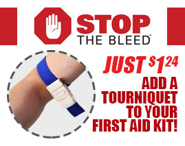 STOP THE BLEED. For just $1.24 add a tourniquet to your first aid kit! Hemostatic Band / Tourniquet Strap - 1 Each